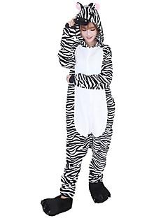 Kigurumi Pyjamas Sebra Kostume Svart hvit Flannelstoff Cosplay Kostumer Sko Kigurumi Trikot / Heldraktskostymer Cosplay Festival / høytid
