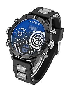 billige Luksus Ure-Herre Quartz Digital Digital Watch Armbåndsur Militærur Sportsur Japansk Kalender Vandafvisende LED Stor urskive Punk Selvlysende i mørke