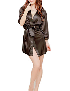 billige Sexy kostymer-uniformer Cosplay Kostumer Festival / høytid Halloween-kostymer Hvit / Svart / Rosa Ensfarget Dameundertøy / Pyjamas