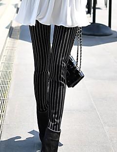 Dames Vintage Eenvoudig Medium taille Slank Rekbaar Skinny Broek Gestreept