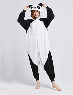 billige Kigurumi-Voksne Kigurumi-pysjamas Panda Onesie-pysjamas Polar Fleece Svart / Hvit Cosplay Til Damer og Herrer Pysjamas med dyremotiv Tegnefilm Halloween Festival / høytid