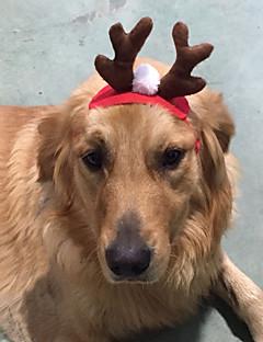 Cachorro Acessórios de Cabelo Roupas para Cães Natal Rena Vermelho