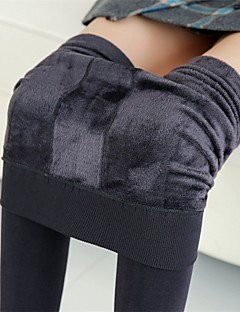 dámské střední teplé pevné barevné leggingy, pruhované, podšívka, tlusté