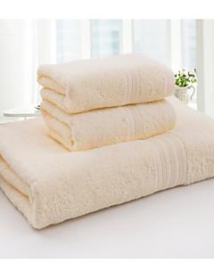 Frischer Stil Badehandtuch Set,Solide Gehobene Qualität 100% Baumwolle Handtuch