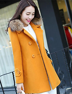 Women's Daily Simple Casual Winter Coat,Solid Cowl Long Sleeve Long Cotton