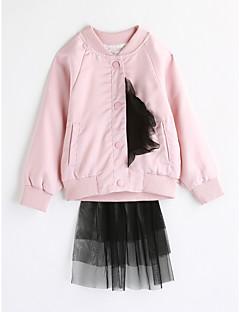 Χαμηλού Κόστους Πώληση-Κοριτσίστικα Μπλούζα Βαμβάκι Μονόχρωμο Άνοιξη Φθινόπωρο Μακρυμάνικο Ανθισμένο Ροζ