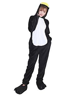 billige Kigurumi-Kigurumi-pysjamas med tøfler Pingvin Onesie-pysjamas Kostume Flannelstoff Cosplay Til Voksne Pysjamas med dyremotiv Tegnefilm Halloween