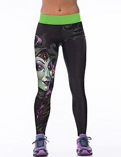 Women's Running Tights Gym Leggings Breathability Stretchy Tights Bottoms for Yoga Running/Jogging Exercise & Fitness Terylene Tight M