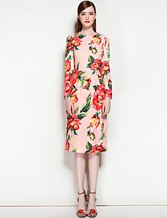Χαμηλού Κόστους MARY YAN&YU-Γυναικεία Χαριτωμένο Κομψό στυλ street Γραμμή Α Φόρεμα - Φλοράλ Μίντι Ως το Γόνατο