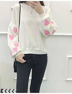 Women's Going out Sweatshirt Color Block Round Neck Micro-elastic Others Long Sleeve Spring Fall