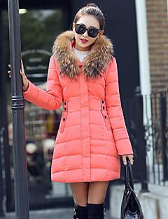 Manteau Rembourré Femme,Normal Sophistiqué Sortie Couleur Pleine-Polyester Polypropylène Manches Longues