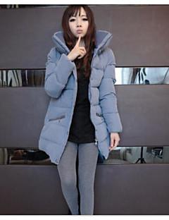 Manteau Doudoune Femme simple Décontracté / Quotidien Couleur Pleine-Coton Coton Manches Longues