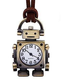 Pánské Dámské Kapesní hodinky čínština Mechanické manuální natahování Kůže Kapela Retro kreativita Hnědá