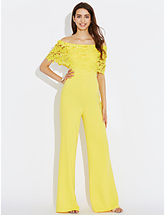 Women's High Rise Casual/Daily Jumpsuits,Casual/Daily Wide Leg Solid Color Summer