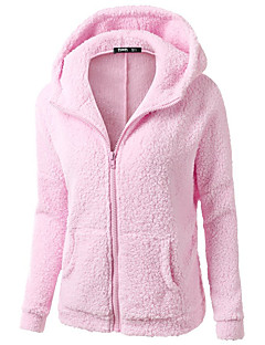 Women's Casual/Daily Hoodie Solid Hooded Micro-elastic Polyester Long Sleeve Fall Winter