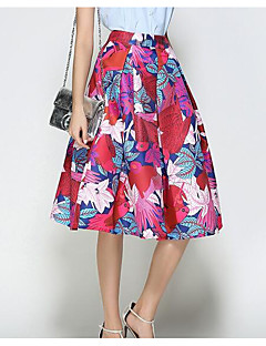 Women's Going out Midi Skirts A Line Print Summer