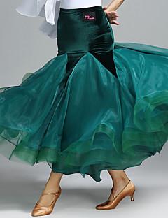 cheap Ballroom Dance Wear-Ballroom Dance Tutus & Skirts Women's Performance Velvet Natural Skirts