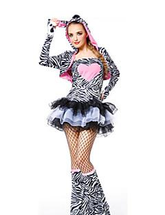 billige Halloweenkostymer-Sebra Cosplay Kostumer Halloween Festival / høytid Halloween-kostymer Grå Mote