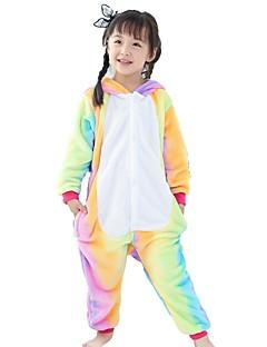 Kigurumi Pijamale Cal Zburător Costume Galben Flanel anyaga Costume Cosplay Kigurumi Leotard / Onesie Cosplay Festival / Sărbătoare