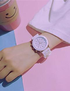 女性用 カップル用 ファッションウォッチ 中国 クォーツ / シリコーン バンド キャンディ カジュアル Elegant ブラック 白 グリーン ピンク ネービー