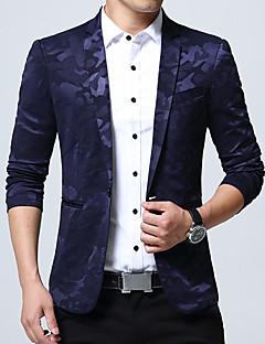 Herren camuflaje Einfach Arbeit Übergröße Blazer,Hemdkragen Frühling Herbst Langärmelige Standard Baumwolle Acryl