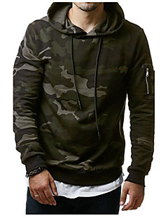Men's Sports Plus Size Boho Hoodie Print Hooded Stretchy Cotton Long Sleeve Fall Winter