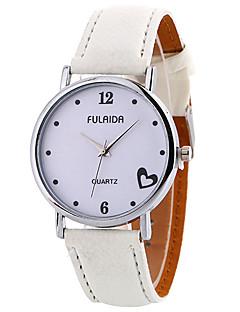 Mulheres Relógio de Moda Relógio de Pulso Relógio Casual Quartzo Couro Banda Pendente Legal Casual Elegantes Preta Branco Marrom