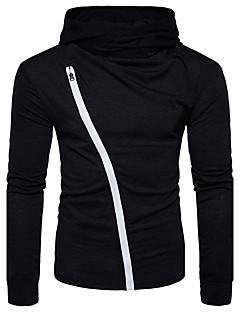Herren Einfarbig Street Schick Lässig/Alltäglich T-shirt,Halter Langarm Polyester