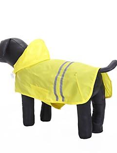 billiga Hundkläder-Katt Hund Huvtröjor Regnjacka Hundkläder Enfärgad Gul Fuchsia Blå Oxfordtyg Vattentätt Material Terylen Kostym För husdjur Ledigt/vardag