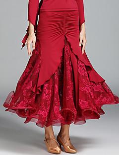 cheap Ballroom Dance Wear-Ballroom Dance Tutus & Skirts Women's Performance Lace Ice Silk Ruffles Natural Skirts