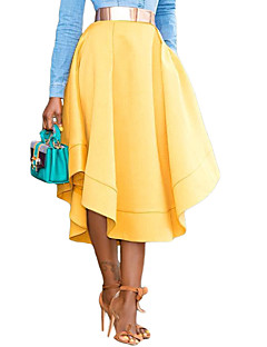 お買い得  レディーススカート-女性用 お出かけ 祝日 ペンシルベイト スカート - ソリッド