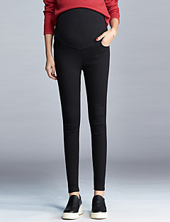 cheap Maternity Bottoms-Women's Maternity Skinny Slim Pants - Solid Low Rise