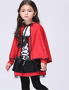 billige Halloweenkostymer-Rødhette Cosplay Kostumer Halloween Festival / høytid Halloween-kostymer Rød Mote