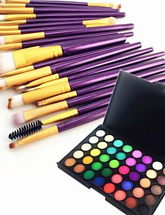 40 renk göz farı kaş tozu kozmetik paleti ve 20 göz farı kaş makyaj fırça seti