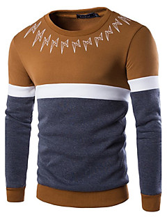 Men's Sports Holiday Casual/Daily Sweatshirt Solid Round Neck Micro-elastic Cotton Long Sleeve Fall Winter