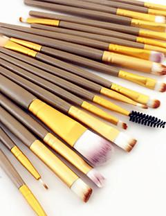 20pcs pro sombra de olhos pincel de maquiagem conjunto de pó eyeliner concealer lábio sobrancelha mascara escova cosmética conjunto 3 cores