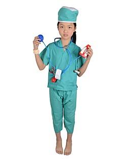 billige Barnekostymer-Doktorveske Cosplay Kostumer Barne Halloween Barnas Dag Festival / høytid Halloween-kostymer Grønn Mote
