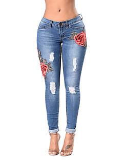 preiswerte Jeans-Damen Retro Skinny Eng Jeans Hose - Blumig, Stickerei