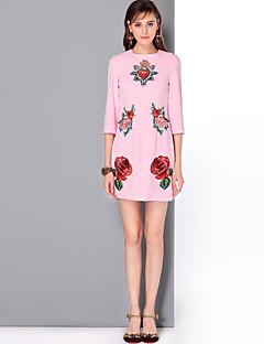Χαμηλού Κόστους MARY YAN&YU-Γυναικεία Χαριτωμένο Κομψό στυλ street Γραμμή Α Φόρεμα - Φλοράλ Πάνω από το Γόνατο