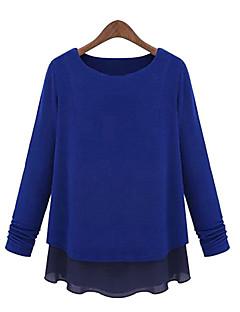 tanie Swetry damskie-Damskie Pulower Jendolity kolor Długi rękaw
