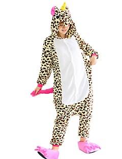 billige Kigurumi-Kigurumi-pysjamas med tøfler Pegasus Enhjørning Onesie-pysjamas Kostume Flannelstoff Beige Cosplay Til Voksne Pysjamas med dyremotiv