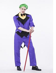 billige Halloweenkostymer-Superhelter Burlesk/Klovn Cosplay Kostumer Halloween Festival / høytid Halloween-kostymer Lilla Mote