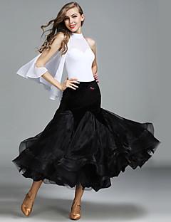Dans de Societate Ținute Pentru femei Performanță Tulle Catifea Mătase de Gheață 2 Piese Fără mâneci Natural Fuste Leotard