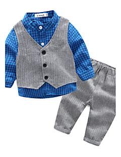 Baby Jongens Casual/Dagelijks Raster Kledingset,Ruit Lente/Herfst