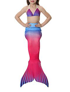 Prinses Zeemeerminstaart Sprookje Zwemkleding Bikini Meisjes Halloween Carnaval Kinderdag Festival/Feestdagen Halloweenkostuums Blozend