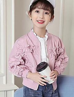 Mädchen Jacke & Mantel einfarbig Polyester Frühling Herbst Lange Ärmel