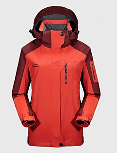 Women's Hiking Jacket Outdoor Winter Windproof Rain-Proof Wearable Breathability Winter Jacket Top Full Length Visible Zipper Camping /