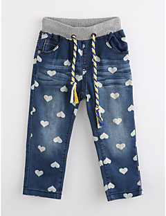 Girls' Print Pants,Cotton Fall Blue