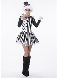 Burlesk/Klovn Cosplay Kostumer Halloween Festival/høytid Halloween-kostymer Svart Mote