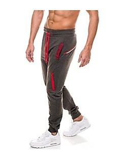 Men's Running Pants Keep Warm Fitness, Running & Yoga Pants / Trousers Running/Jogging Exercise & Fitness Polyester Slim Black Grey Dark